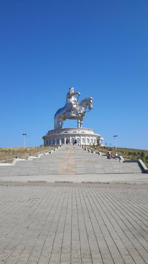 Statua di Chenggis khan fotografie stock