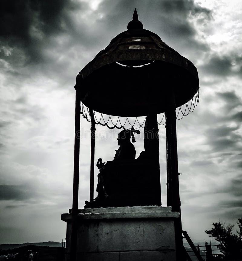 Statua di Chhatrapati Shivaji Maharaj fotografia stock
