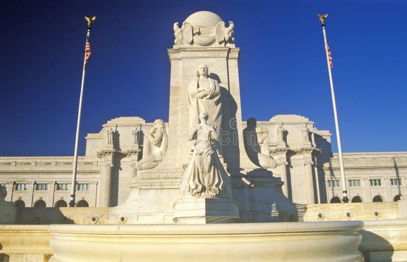 Statua di Christopher Columbus alla stazione del sindacato, Washington, DC fotografia stock