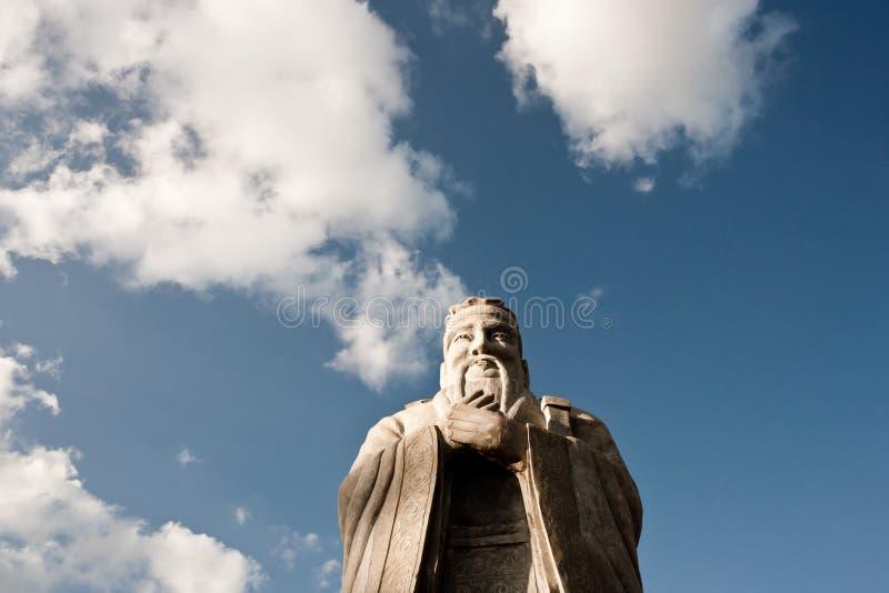 Statua di Confucio fotografie stock