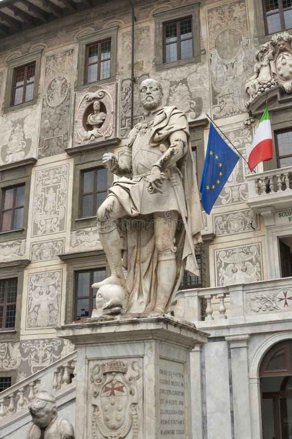 Statua di Cosimo I a Pisa fotografia stock