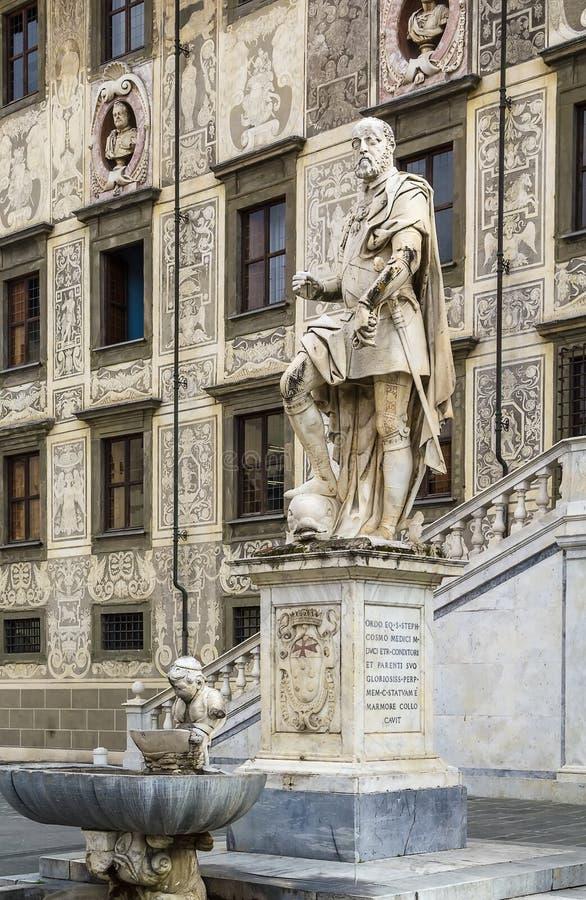 Statua di Cosimo I, Pisa, Italia immagine stock libera da diritti