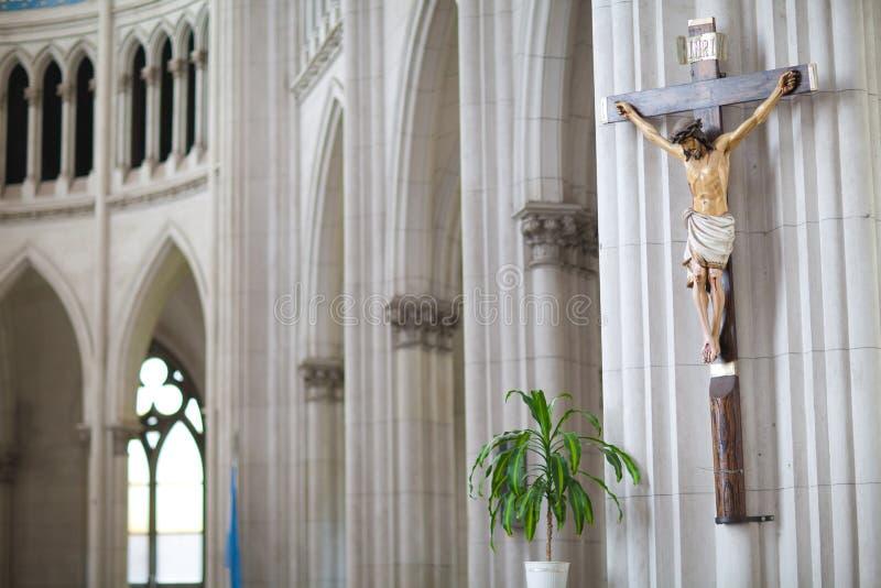 Statua di Cristo nella chiesa fotografie stock libere da diritti