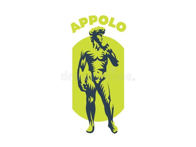 Statua di David o di Apollo royalty illustrazione gratis
