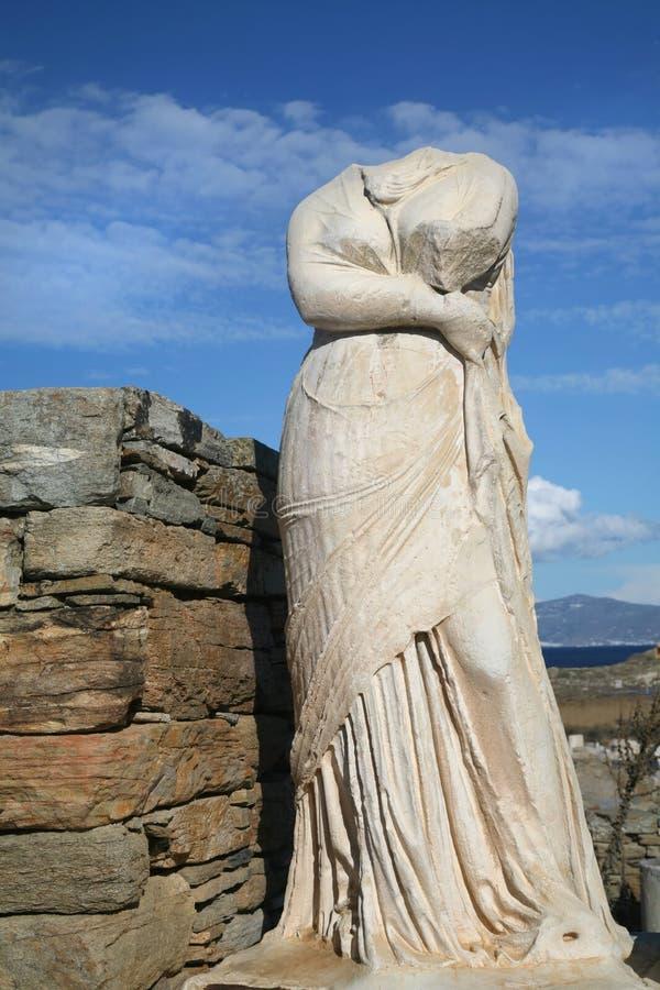 Statua di Delos immagini stock libere da diritti
