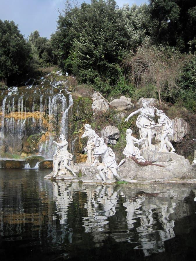 Statua di Diana a Caserta immagine stock libera da diritti