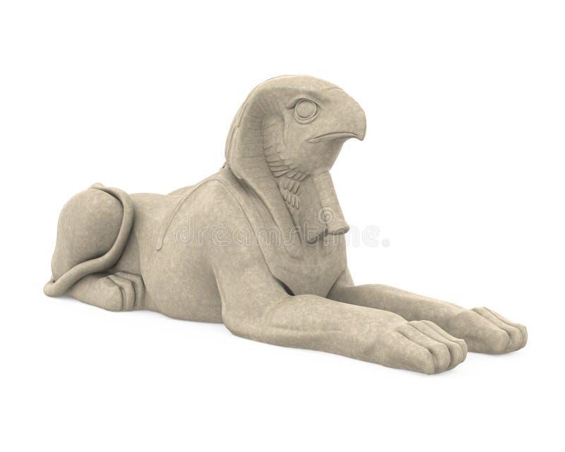 Statua di Dio Horus dell'Egiziano isolata illustrazione vettoriale