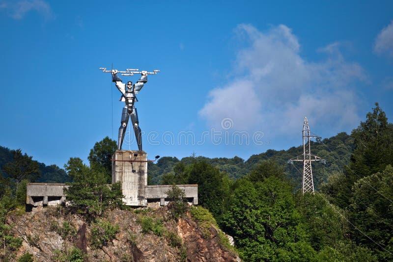 Statua di elettricità fotografie stock