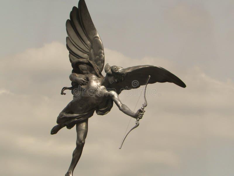 Statua di eros nel circo di Piccadilly fotografia stock libera da diritti