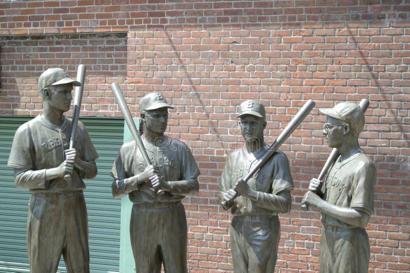 Statua di Fenway Park immagini stock