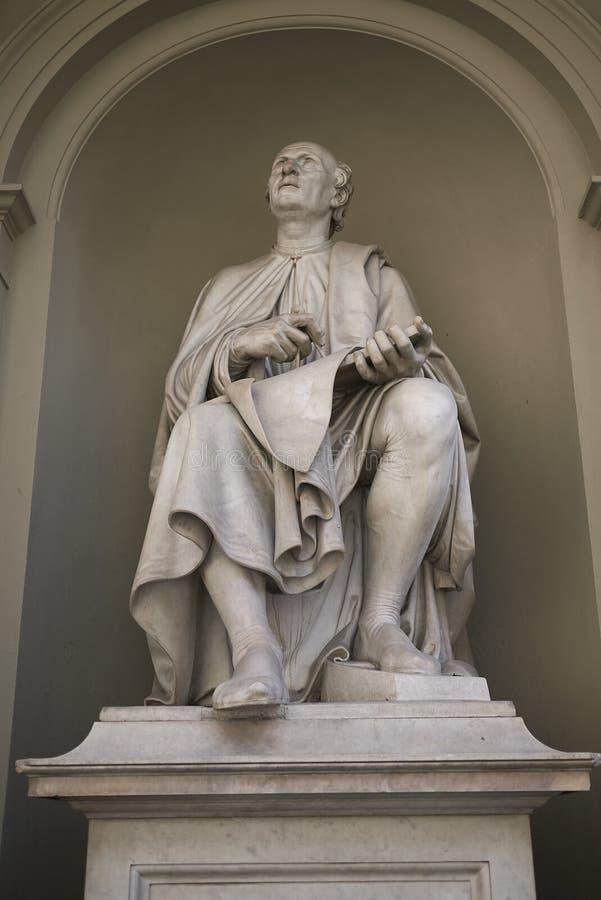 Statua di Filippo Brunelleschi fotografia stock