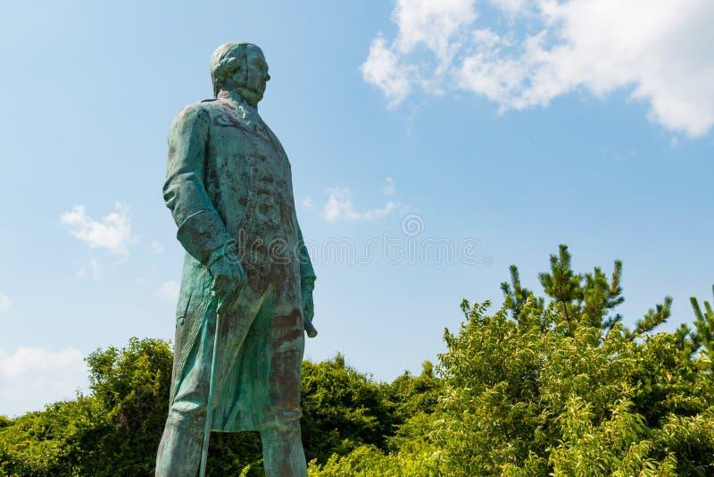 Statua di Francis Joseph Paul de Grasse in Virginia Beach fotografia stock libera da diritti