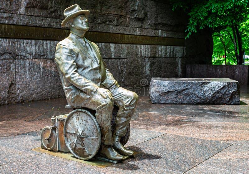 14 Statua Di Roosevelt Sedia Rotelle Foto Foto Stock