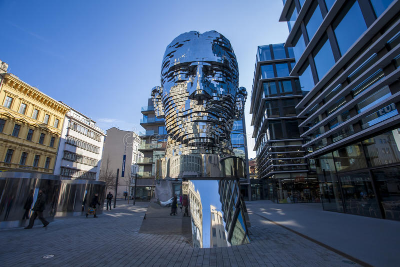 Statua di Franz Kafka immagine stock