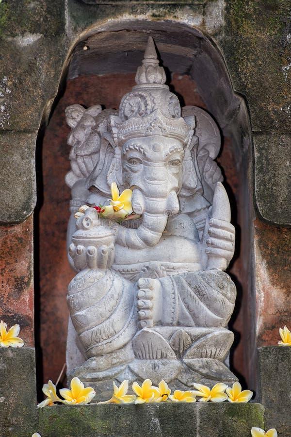 Statua di Ganesh dentro un tempio in Bali immagini stock libere da diritti