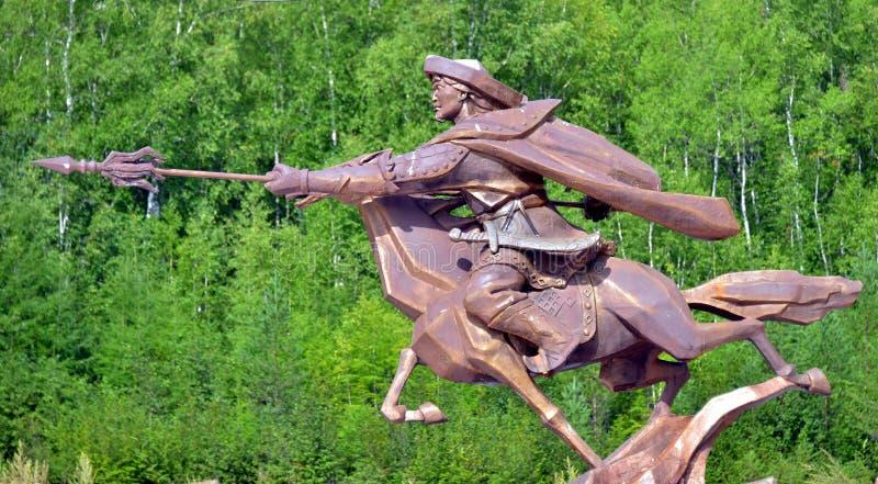 Statua di Genghis Khan fotografie stock libere da diritti
