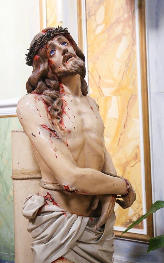 Statua di Gesù sul venerdì santo immagine stock