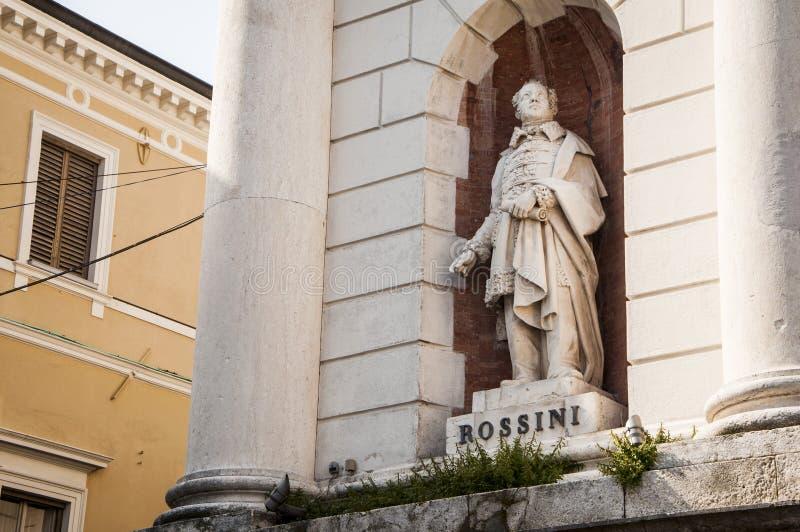 Statua di Gioacchino Rossini fotografia stock libera da diritti