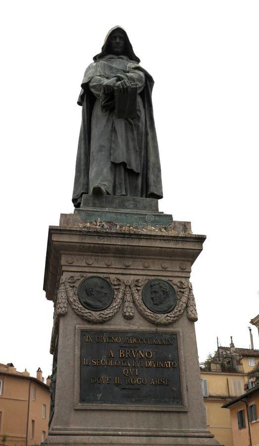Statua di Giordano Bruno un frate domenicano italiano conosciuto per ciao immagini stock libere da diritti