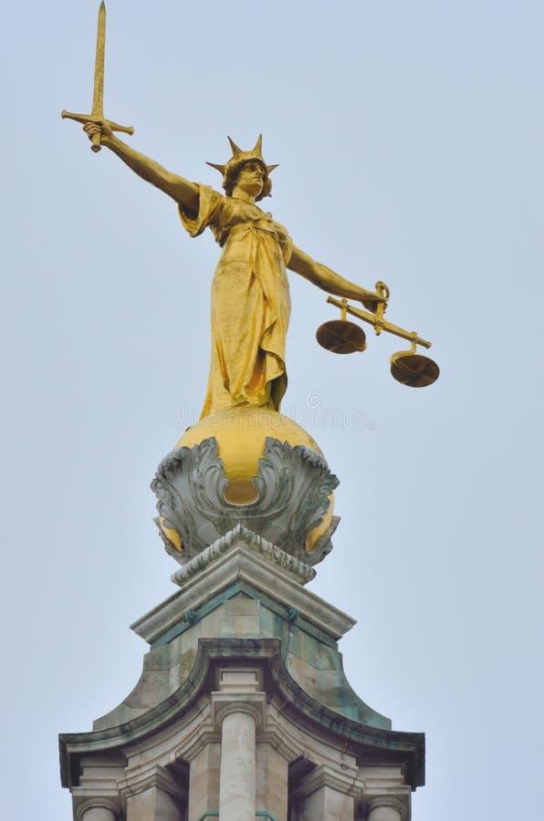 Statua di giustizia Old Bailey fotografia stock