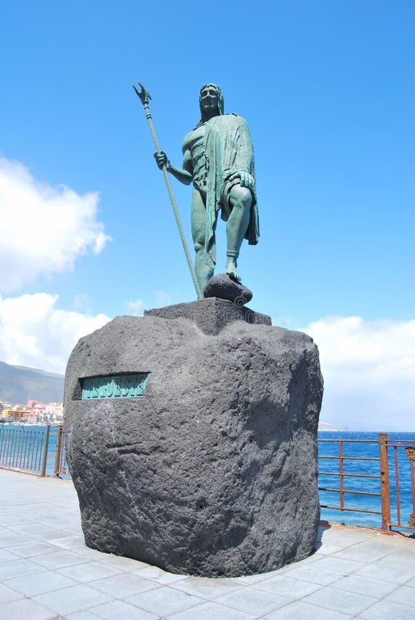 Statua di Guanches fotografia stock libera da diritti