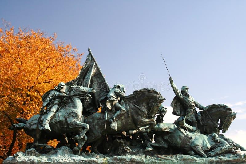 Statua di guerra civile fotografie stock