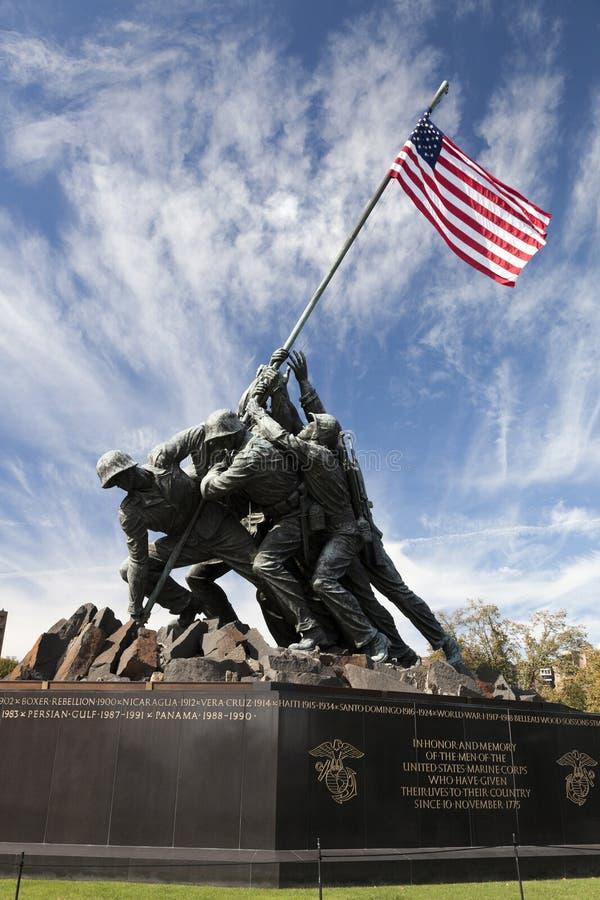 Statua di Iwo Jima - Washington DC, U.S.A. fotografia stock