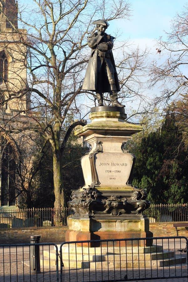 Statua di John Howard, riformatore della prigione. fotografia stock