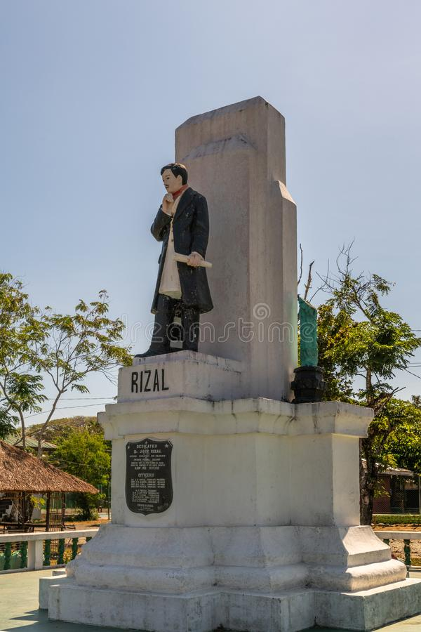 Statua di Jose Rizal nella colonia penale di Iwahig, Puerto Princesa, Palawan, Filippine fotografia stock