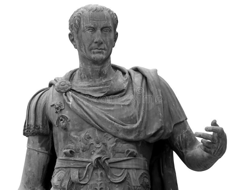 Statua di Julius Caesar a Roma immagine stock libera da diritti