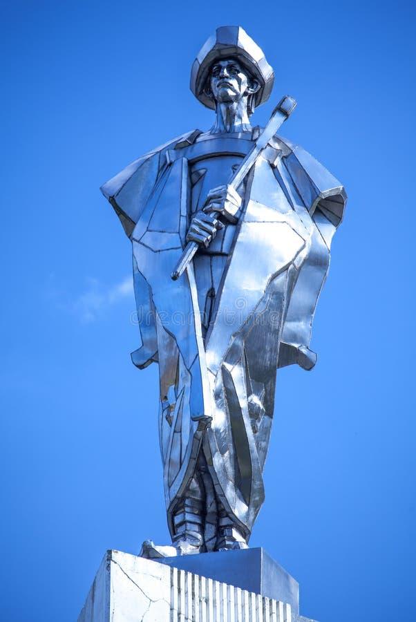 Statua di Juraj Janosik - bandito slovacco fotografia stock