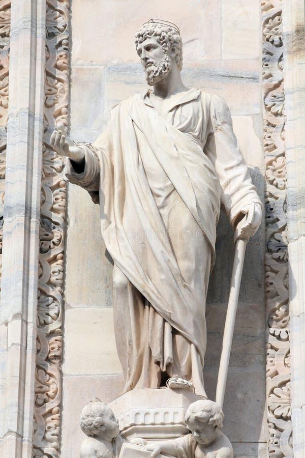 Statua di Justin del san immagine stock
