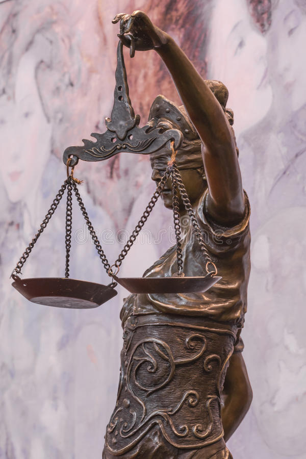 Statua di Jutsice fotografie stock libere da diritti