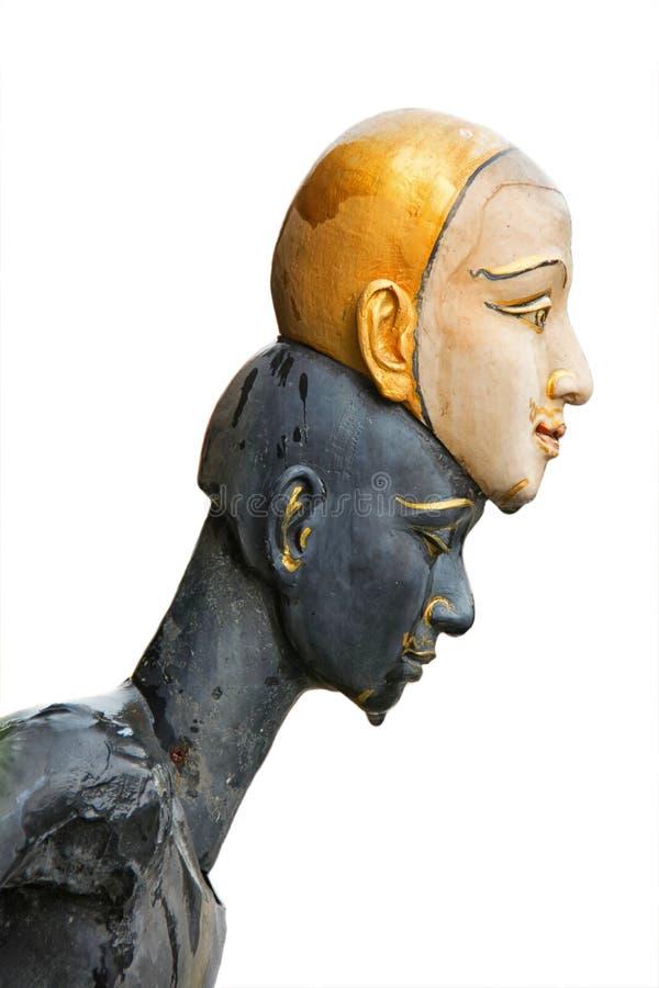 Statua di khon isolata fotografia stock