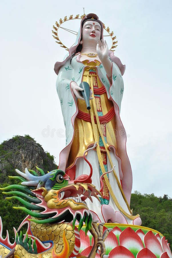 Statua di Kuan-yin fotografia stock