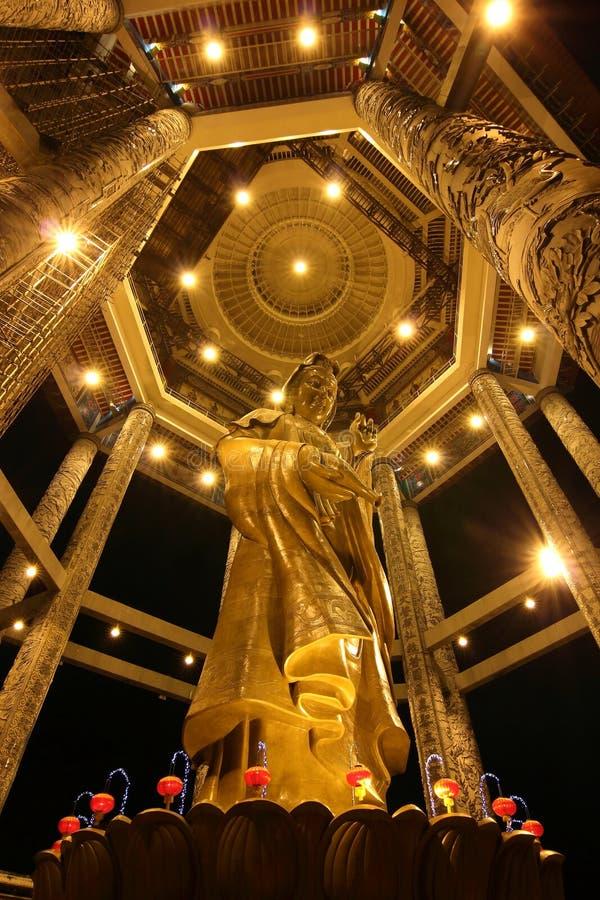 Statua di Kuan Yin a Kek Lok Si 02 fotografia stock libera da diritti