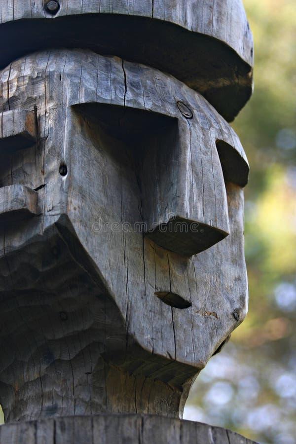 Statua di legno fotografia stock