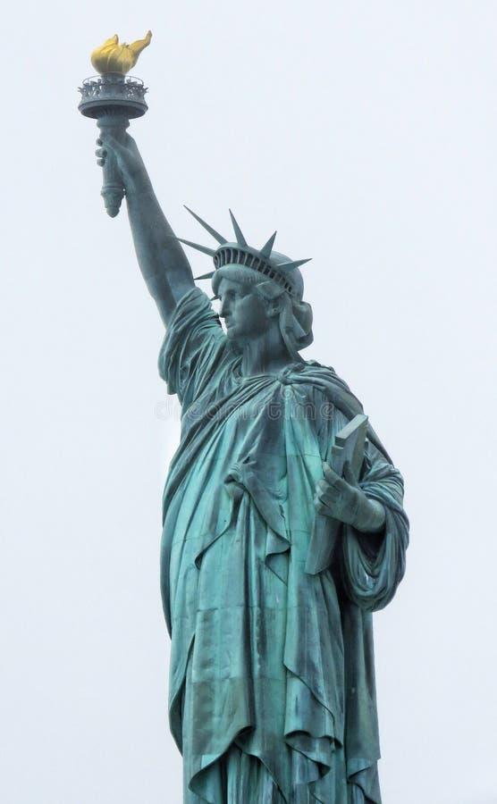 Statua di libertà & del tramonto di New York City fotografia stock libera da diritti