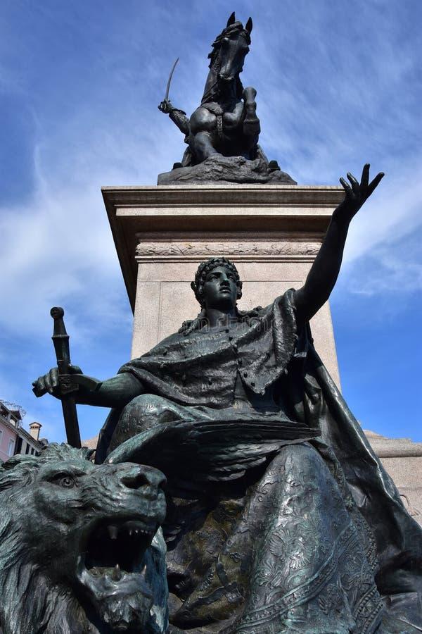 Statua di libertà di Venezia fotografia stock libera da diritti