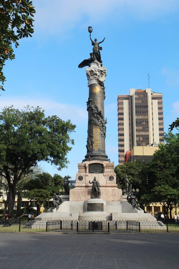 Statua di libertà a Guayaquil, Ecuador fotografia stock libera da diritti