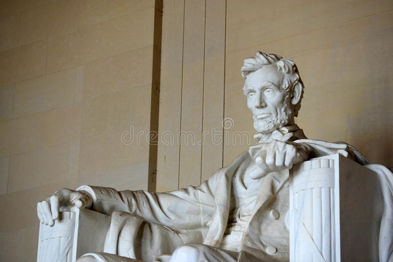 Statua di Lincoln in memoriale di Lincoln, Washington fotografia stock