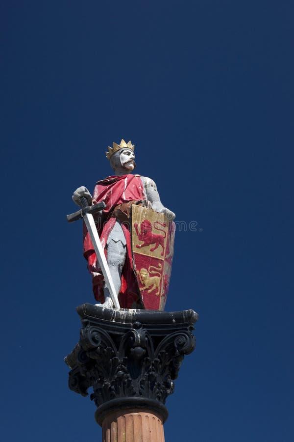 Statua di Llywelyn il Grande, Conwy, Galles, Regno Unito - maggio 2010 fotografie stock libere da diritti