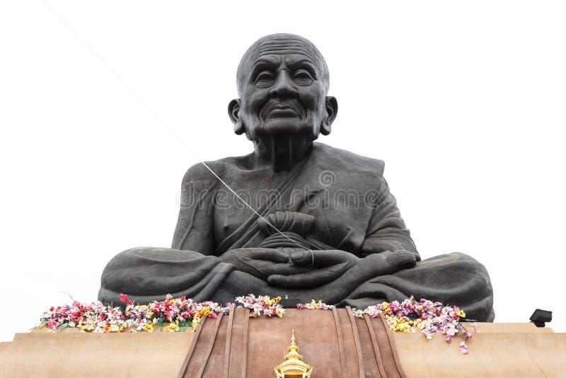 Statua di Luang Phor Tuad, Wat Huai Mongkhon fotografia stock