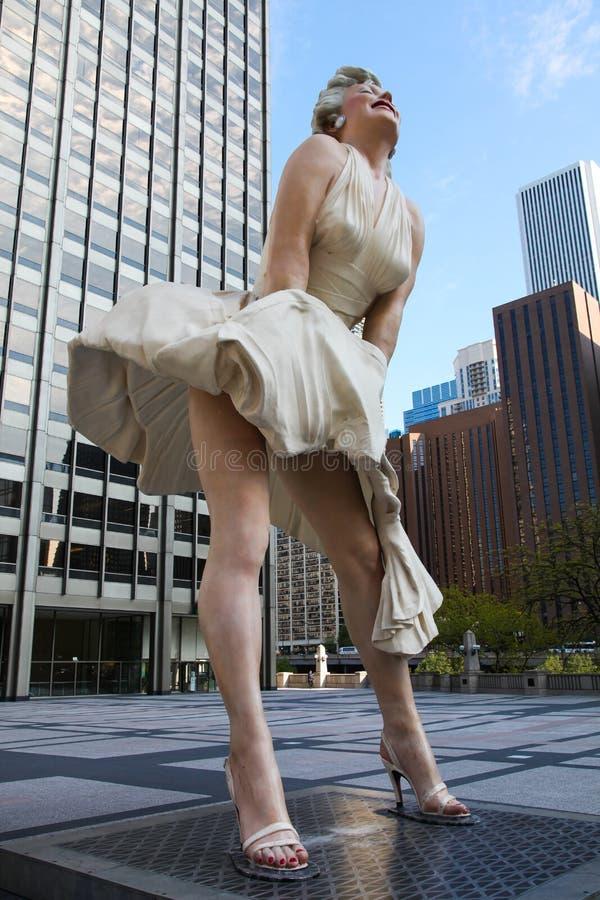 Statua di Marilyn Monroe in Chicago immagine stock
