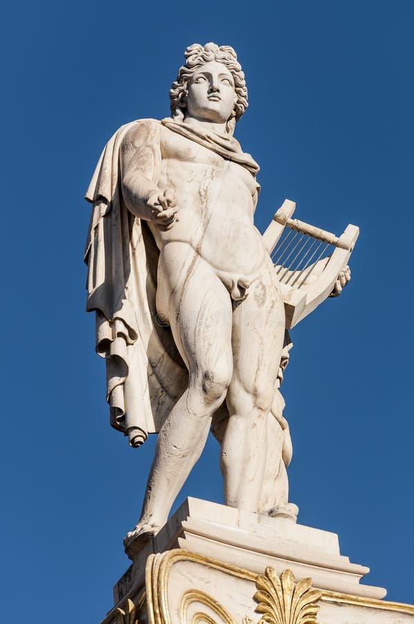 Statua di marmo classica di Apollo immagine stock