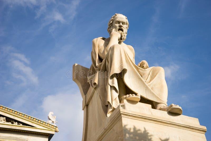 Statua di marmo del filosofo Socrates del greco antico immagine stock