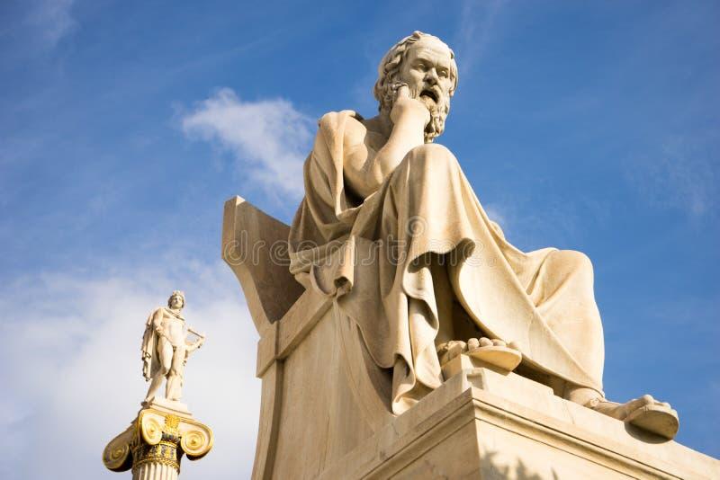 Statua di marmo del filosofo Socrates del greco antico immagine stock libera da diritti