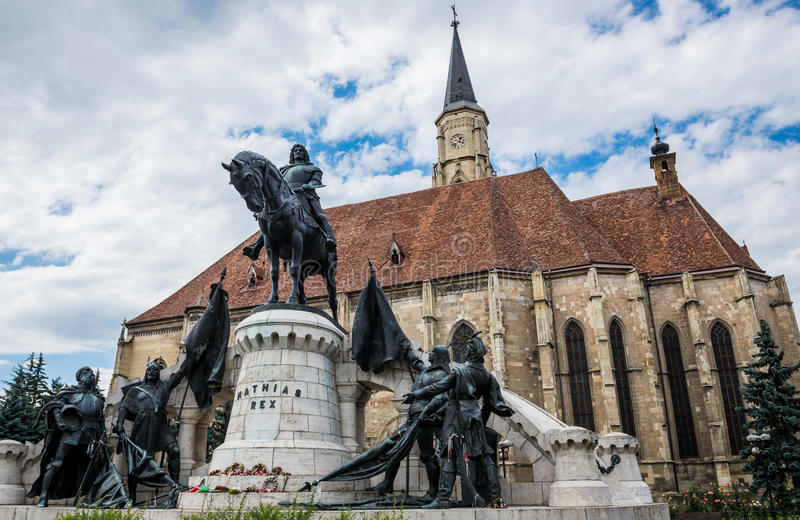 Statua di Matthias Corvinus fotografia stock libera da diritti