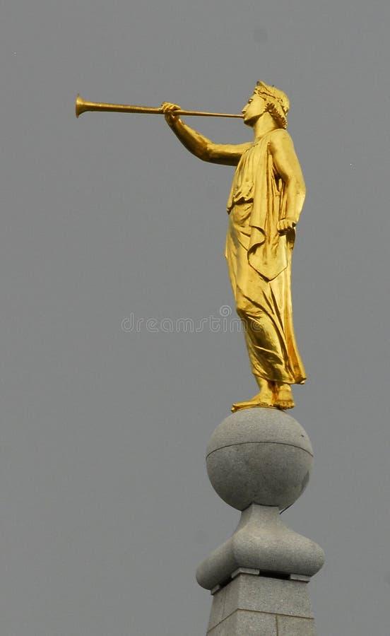 Statua di moroni di angelo fotografia stock