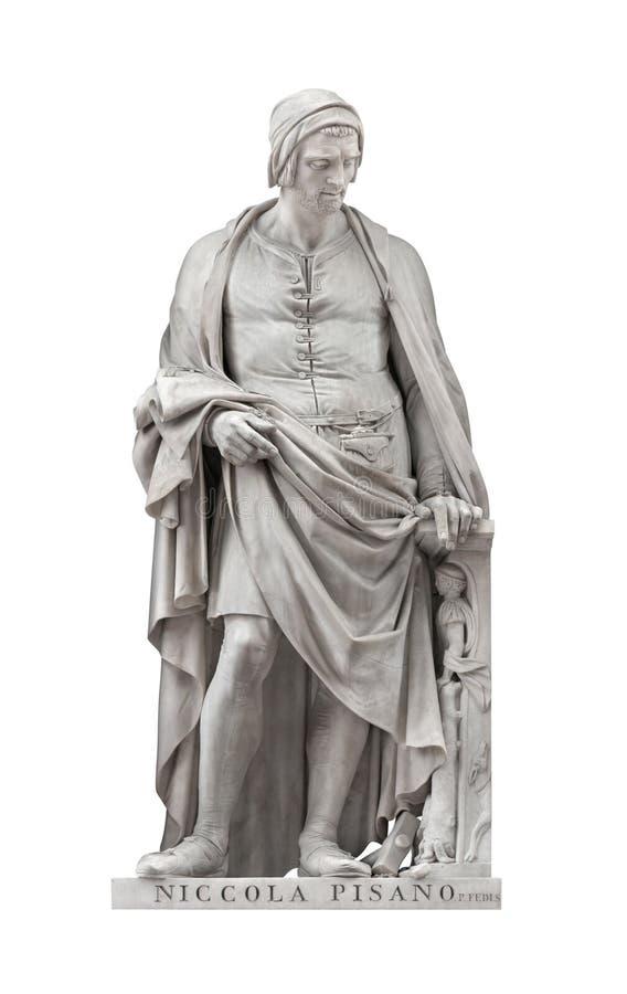 Statua di Niccola Pisano a Firenze, Italia fotografia stock